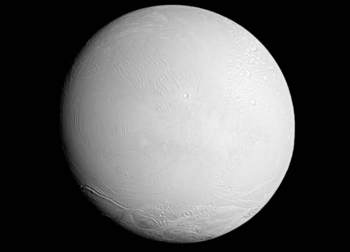 Энцелад. Фото NASA/JPL-Caltech/Space Science Institute