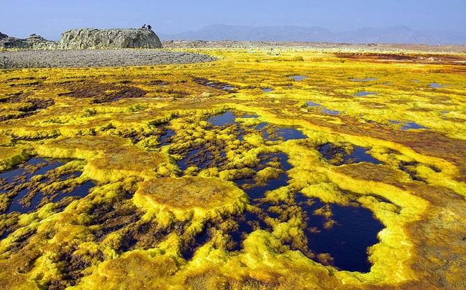 Инопланетные пейзажи на Земле - вулкан Даллол