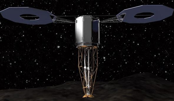 аппарат и астероид