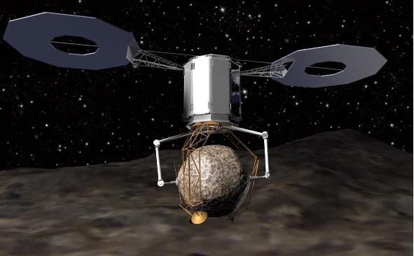 захват астероида