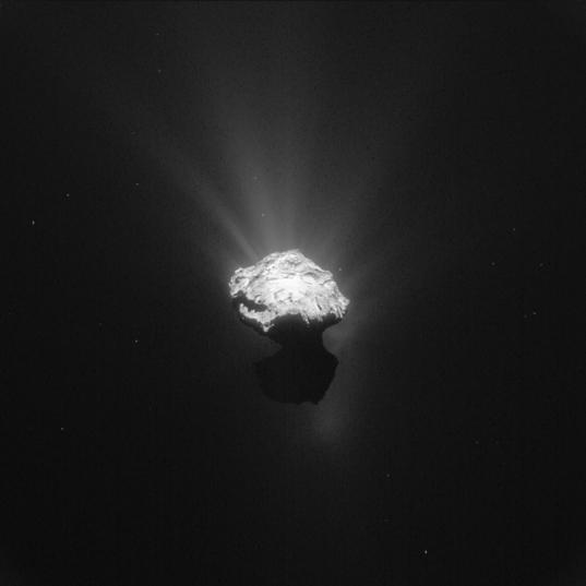 комета с аппаратом Филе