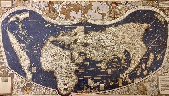 первая карта Америки