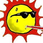 солнце излучает тепло