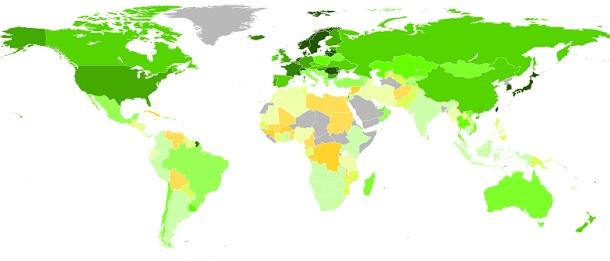 средняя скорость интернета по странам